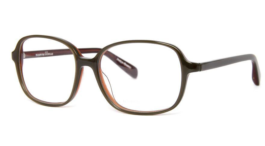 Hamburg Eyewear Lore 35 farngrün, cognac hinterlegt havanna-honig gefleckt matt