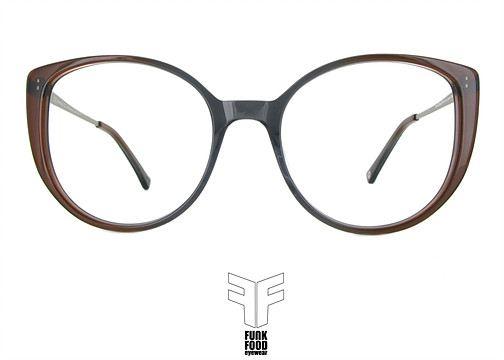 Funk Food Brille,eyewear, Mamaliga C3 grau-braun