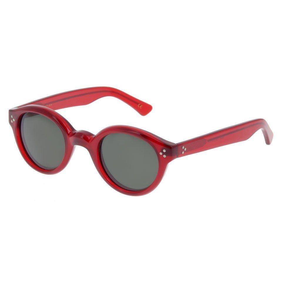 Lesca Lunettes Modell: La Corb s, eyewear große rote Brille auch mit helllen Gläsern