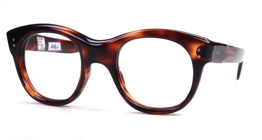 Onassis Brille, Echte Vintagebrille 70er Jahre, dunkelhavanna