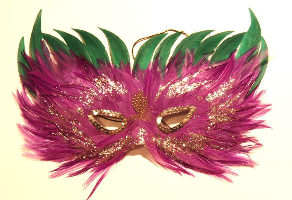 Federmaske aus echten Federn sehr hochwertig, Augenmaske,