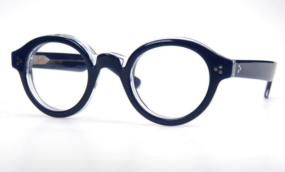 Lesca La Corb`s, Pantobrille coole Brille voll im Trend massiv transparent mit blau