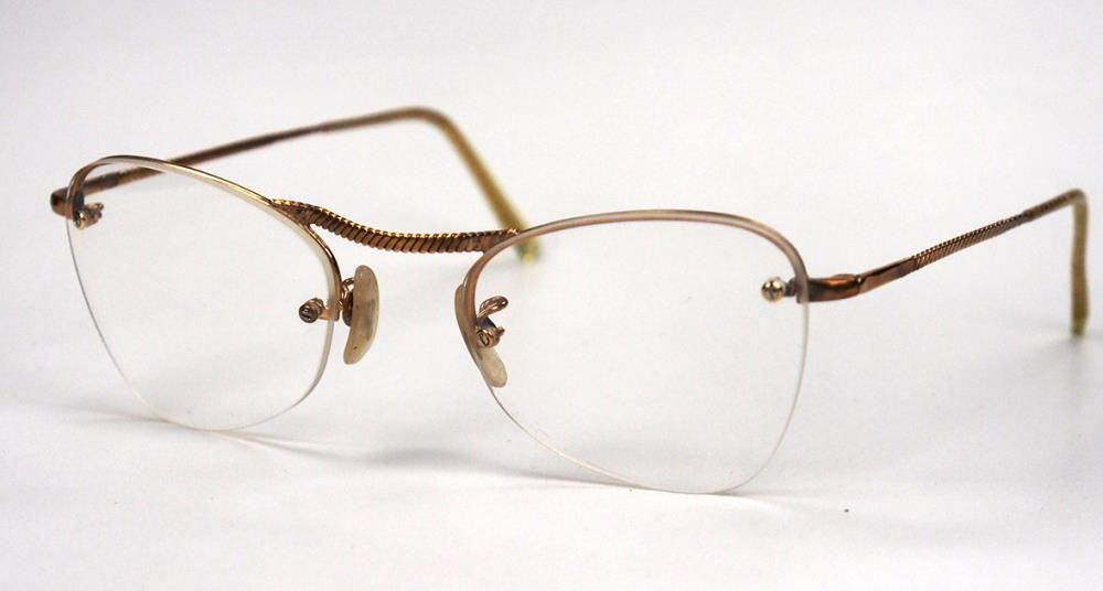 Vintage Damenbrille der 30er/40er Jahre Golddouble