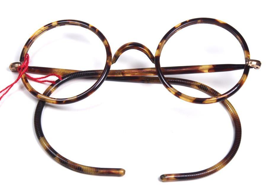 Runde Antik brille, 12 Karat Golddouble