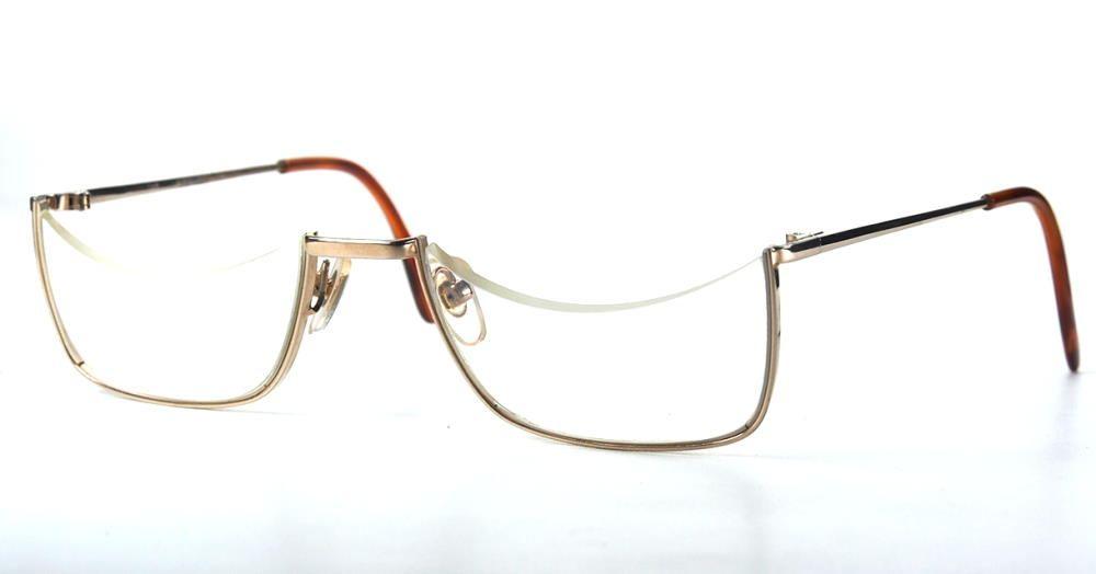 Halbbrille, Lesebrille, Vintagebrille, seltene Vintagehalbbrille fabrikneu