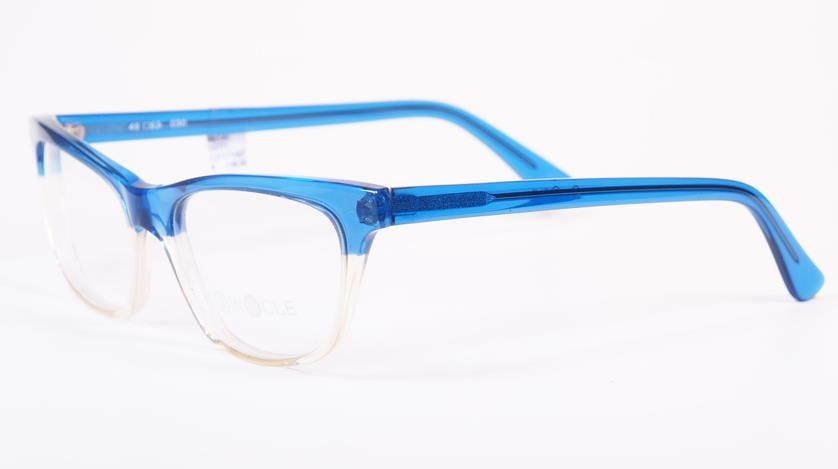 Vintagebrille Binocle, handmade in France, blaue Vintagebrille der späten 80er Jahre