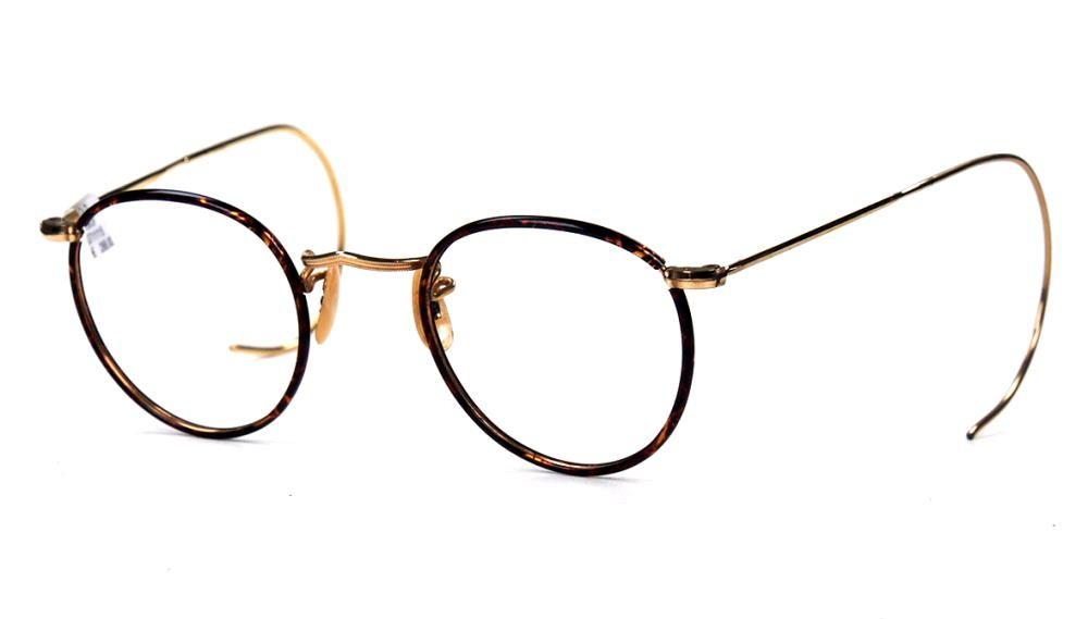 Pantobrille, Antikbrille mit Winsorrändern überzogen