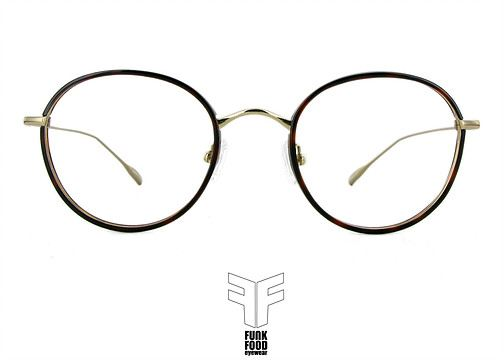 Funk Food Brille,eyewear, Piragi C1 golden demi rim