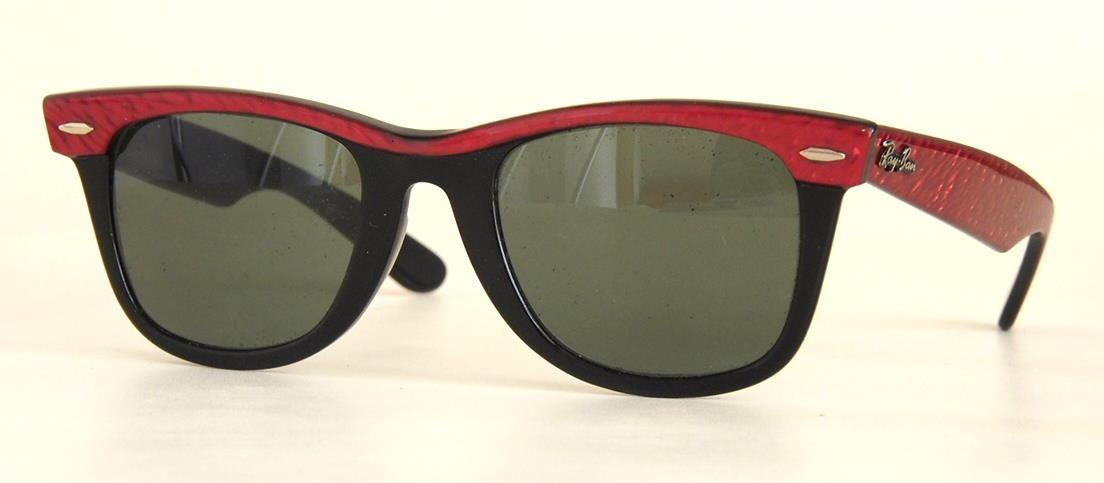 Ray Ban Brille aus USA, Wayfarerer schwarz/rot Sonnenbrille,