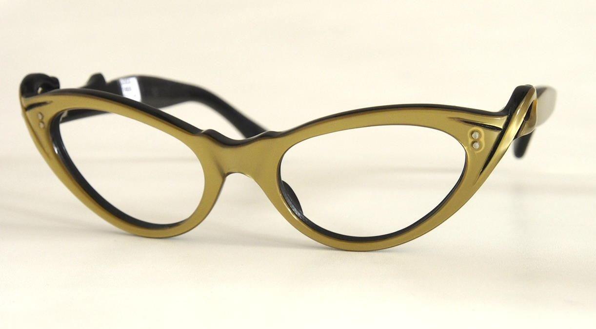 50er Schmetterlingsbrille, Cateye Brille, Rockabillybrille