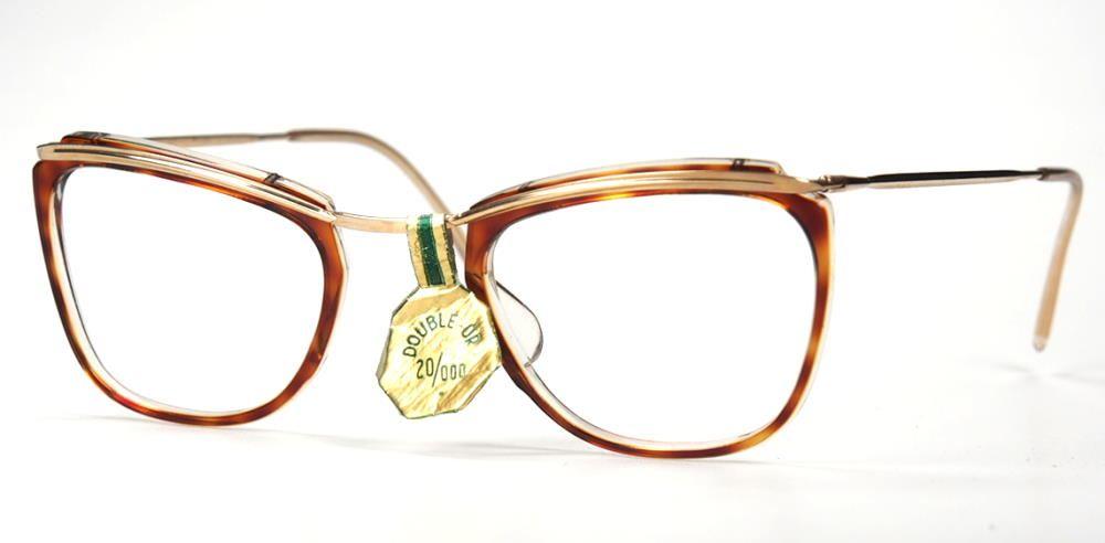 Vintage Brillengestell aus Golddouble aus den 40er Jahren