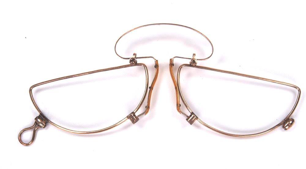 Brillenkneifer für Nahsehen aus Golddouble echt antik und selten.