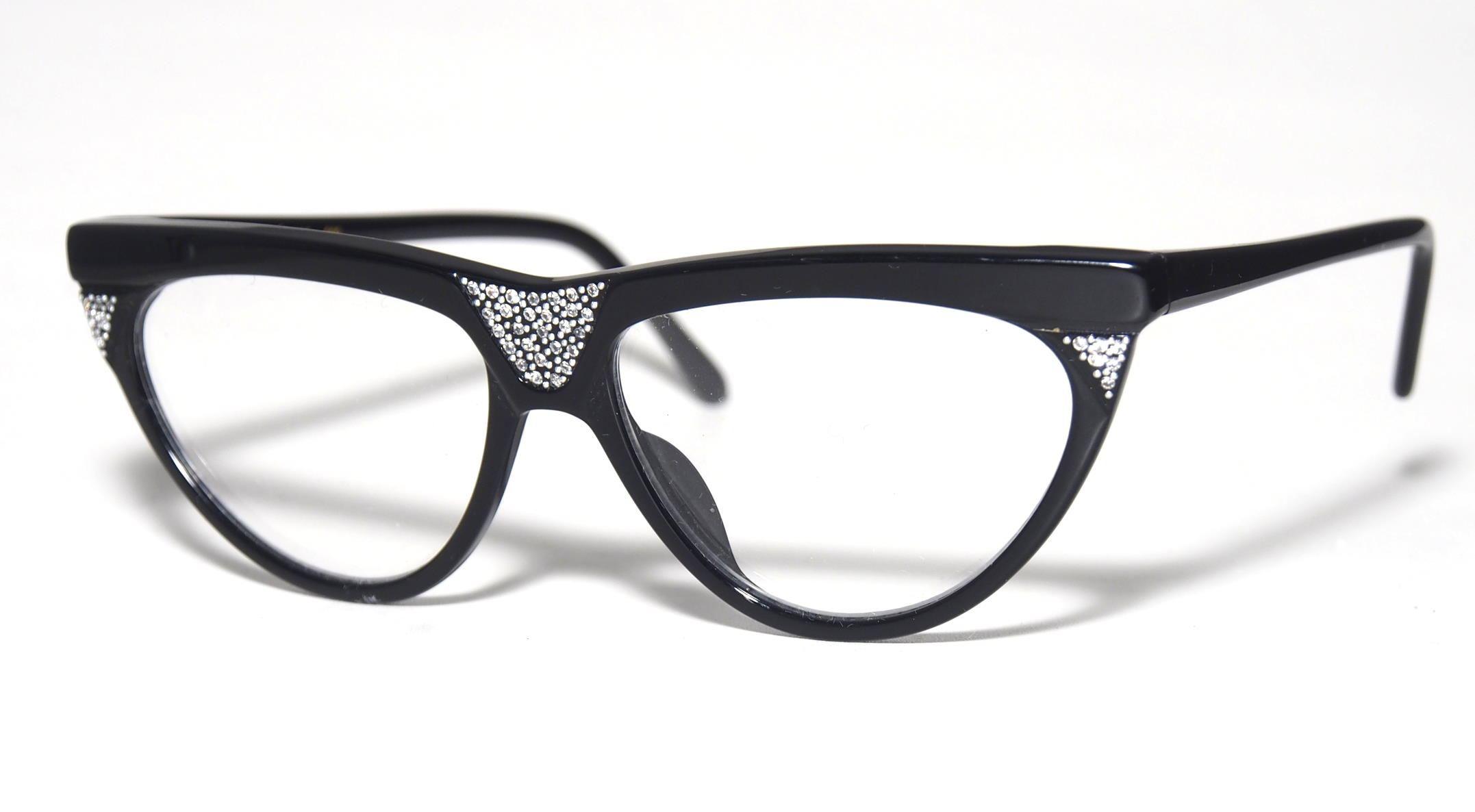 Strass-Vintagebrille der 80er Jahre Modell Plygirl