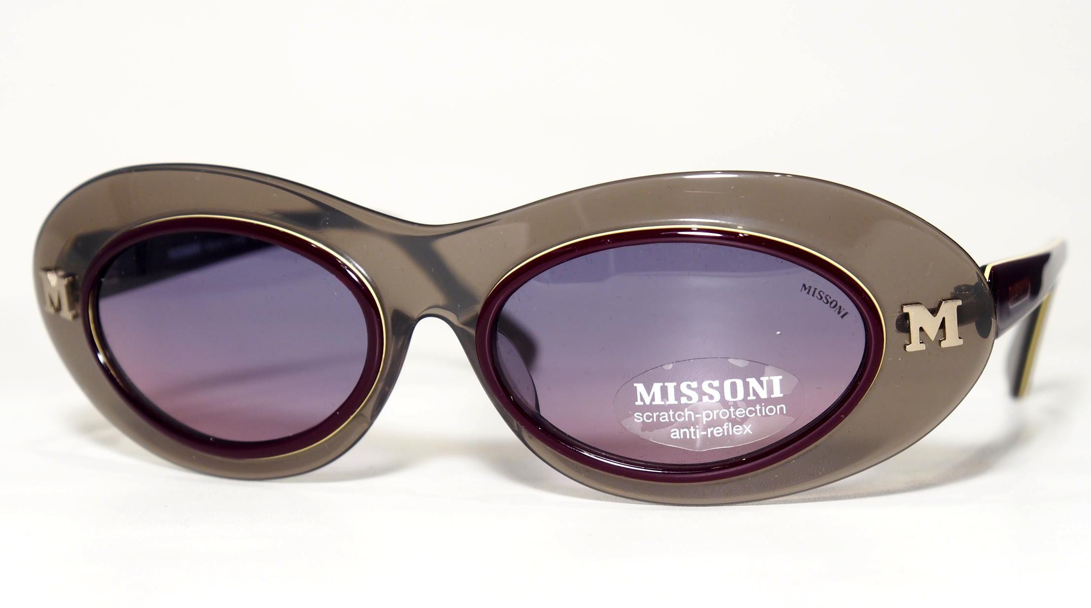 Vintage Sonnenbrille Missoni / 90er Jahre Kult-Sonnenbrille 0105 S 053