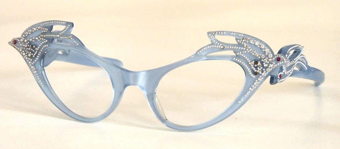 Cateye-Brille für Film und Theater  verrückte Brillen, außergewöhnliche Brille, coole Vintagebrille,