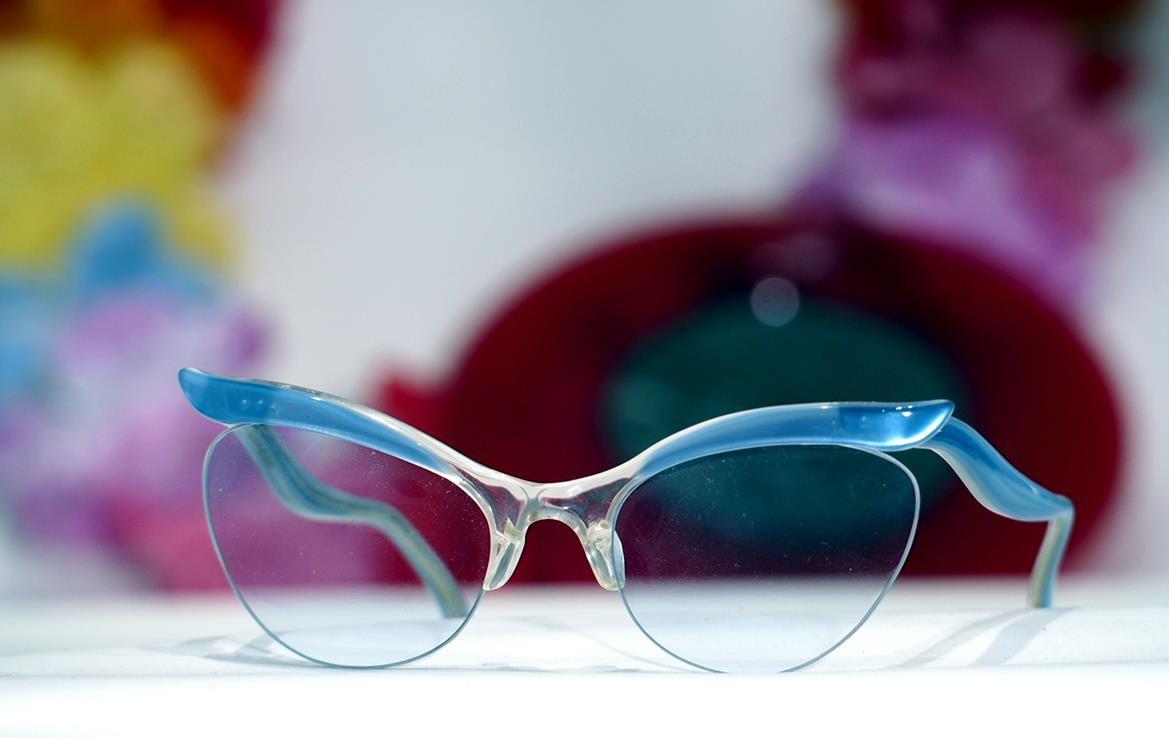 Cateye Brille, Vintage Brille Nylor aus den 50er Jahren