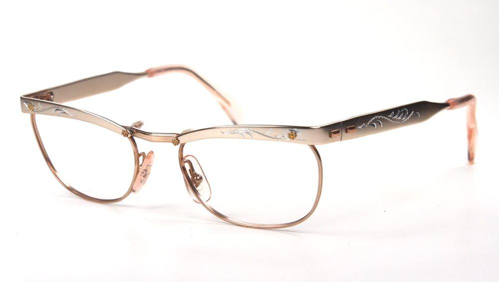 Vintagbrille der 50er Jahre, Oberbalken aus Aluminium