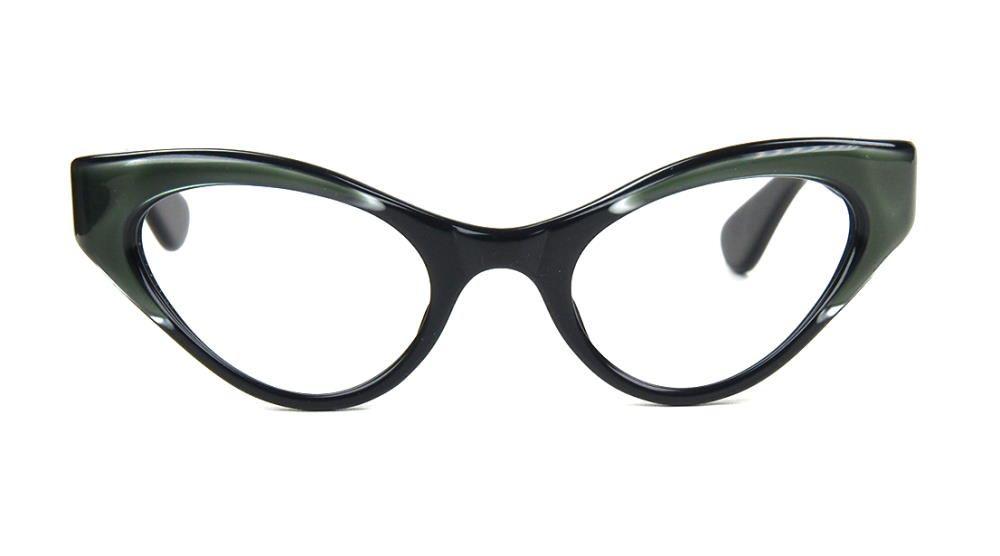 50er Jahre Brille als Schmetterlingsbrille, Cateyebrille