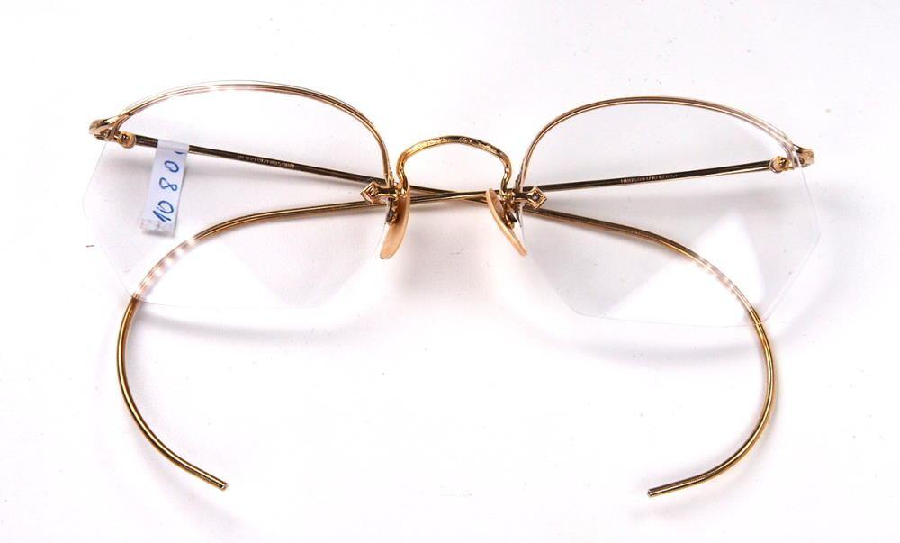 Antike Brille aus den 30er Jahren in Golddouble