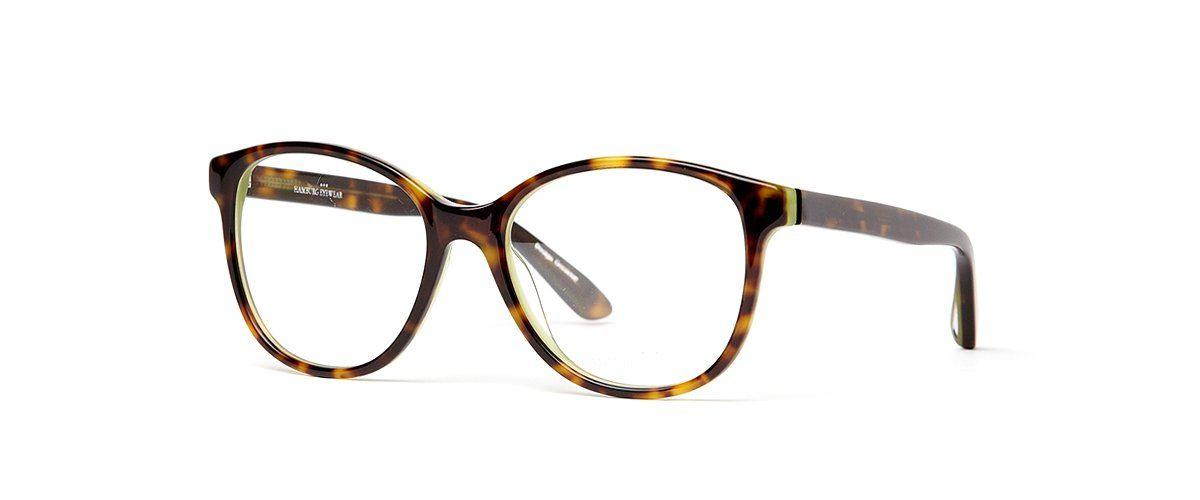 Hamburg Eyewear  Camilla 18 dunkel-havanna gefleckt / grün hinterlegt,
