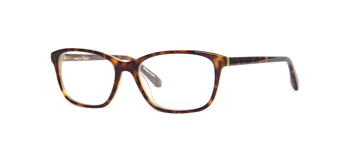 Hamburg Eyewear Tine 18 dunkel-havanna gefleckt / grün hinterlegt