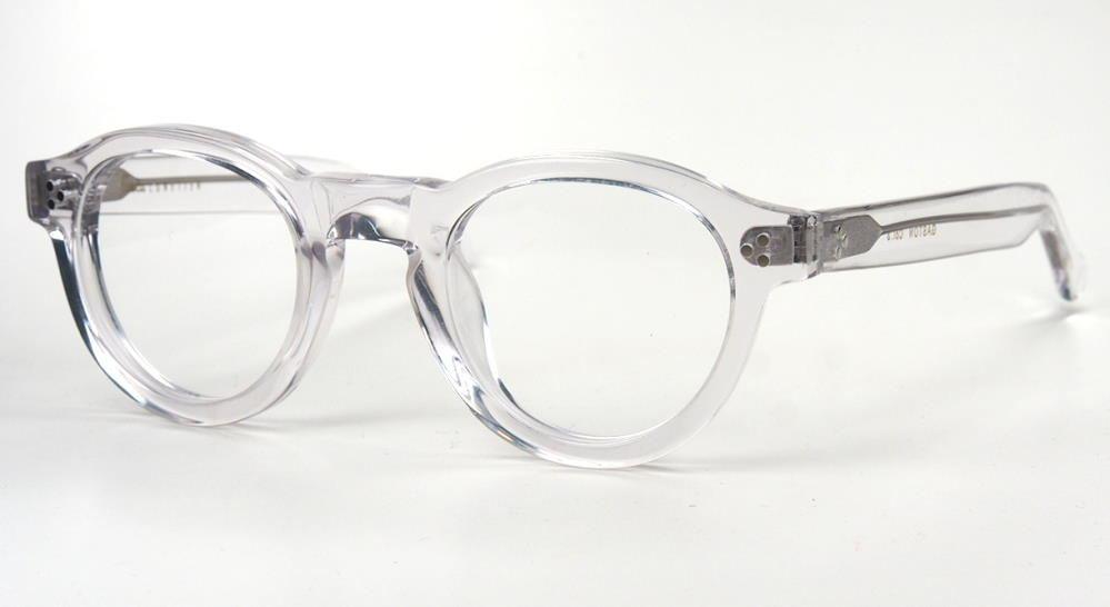 Lesca Gaston, Pantobrille coole Brille voll im Trend massiv transparent