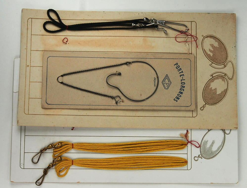 Pincenez-, Brillenkneiferkettchen, Zwickerkettchen original um 1900