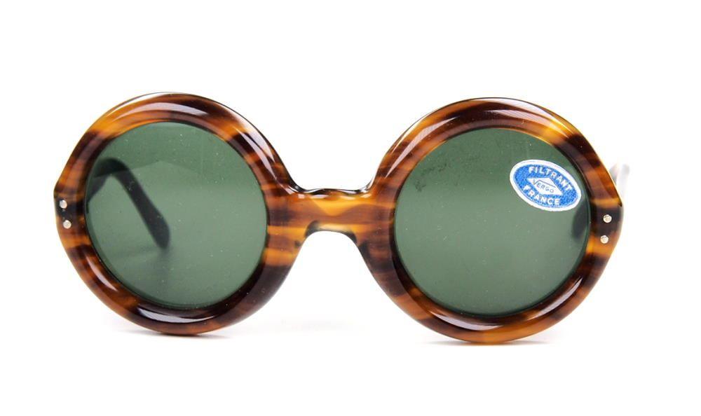 Runde Brille, original Vintage Sonnenbrille 70er Jahre