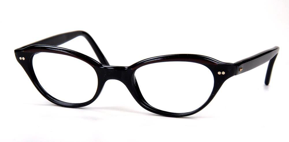 Cateyebrille, Schmetterlingsbrille, Rockabillybrille der 60er Jahre Brille, echt Vintage