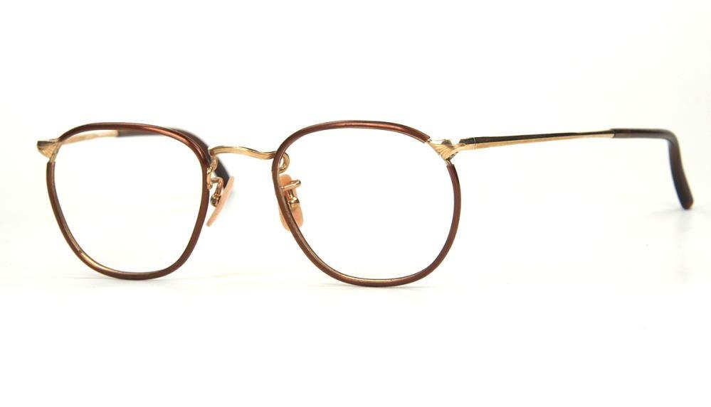 Kleine Pantobrille, antike Brille aus Golddouble aus den 30er Jahren