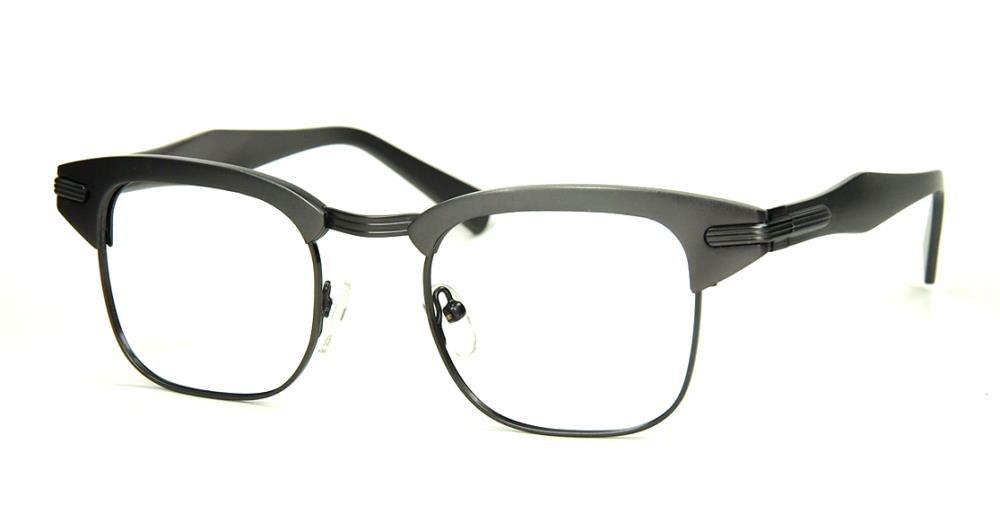 Rockabilly Vintagebrille, Oberbalkenbrille aus Aluminium in anthrazite fabrikneu.