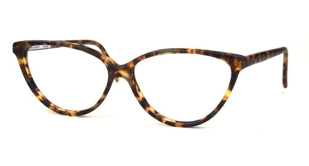 Vintagebrille der 90er Jahre, große  Cateyebrille in havannamatt