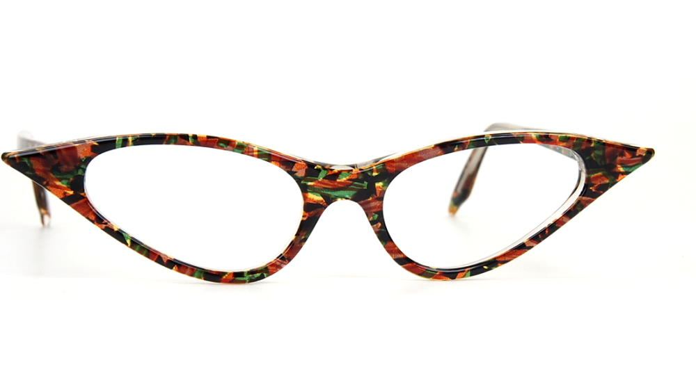 Vintagebrille der 90er Jahre, große  Cateyebrille