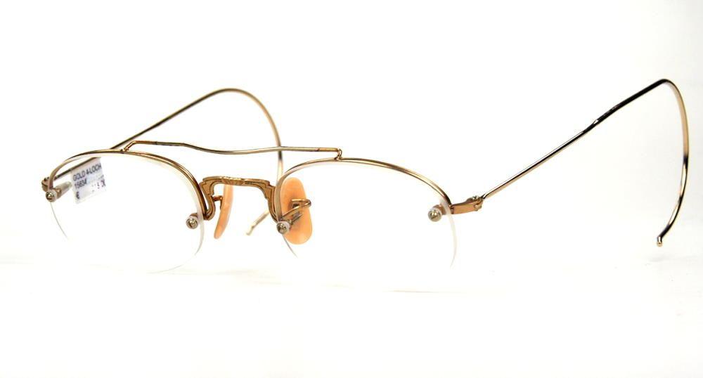 Antike Brille aus den 30er bis 40er Jahren in Golddouble  mit sehr schönem Mittelstag