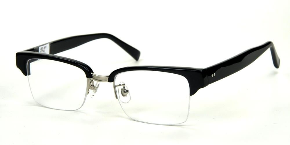 Rockabille Brille, Vintagebrille  70er Jahre Oberbalken schwarz und randlos