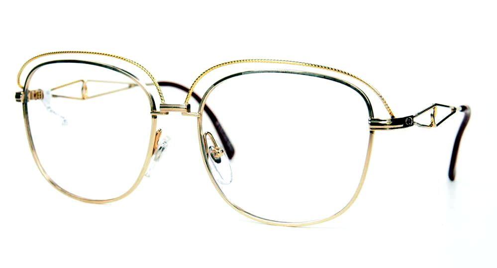 Christian Dior 80er Jahre Vintage Brille aus dünnem Metall