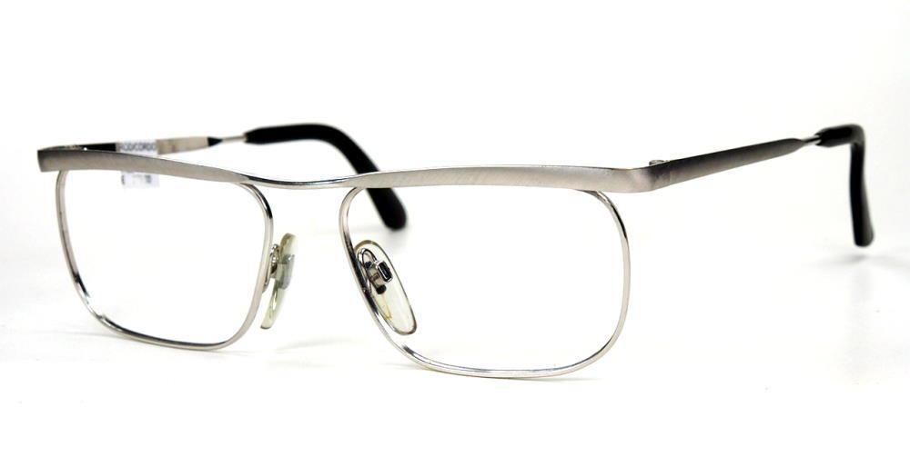 Rodenstock Brille Modell Carlton flach 12 Karat Weissgolddouble, echt Vintagebrille,
