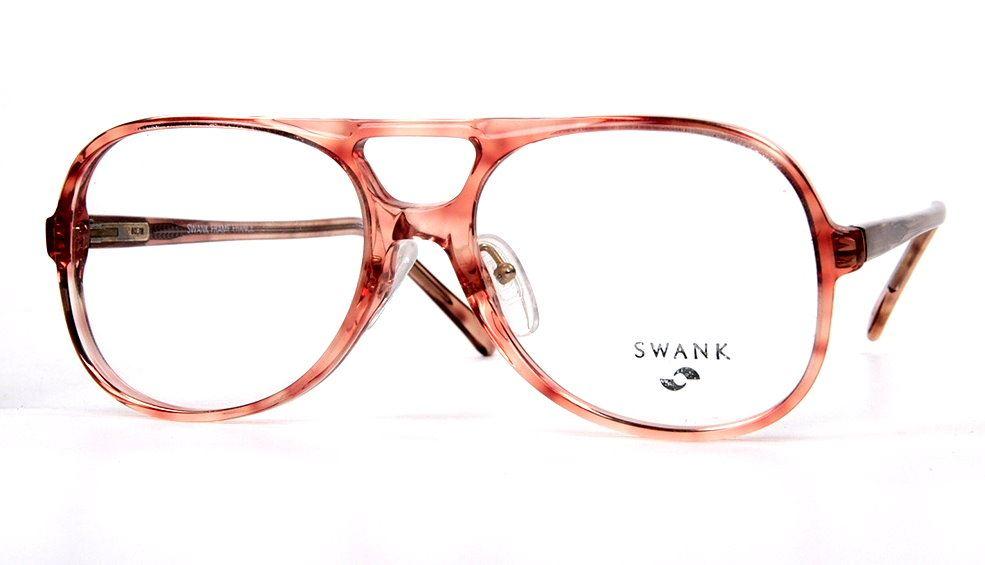 Vintagebrille Pilotenform mit Doppelsteg und Federscharnier der 70er Jahre von SWANK