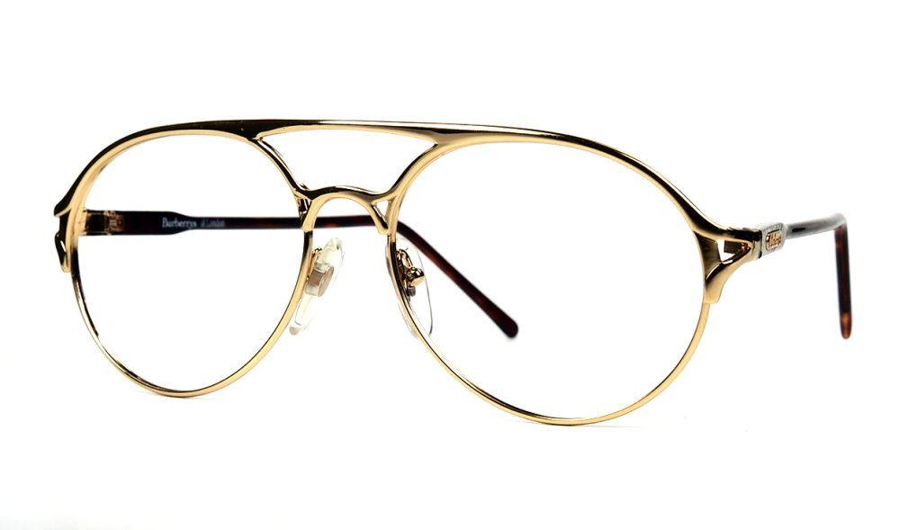 Burberrys Vintagebrille Sondermodell, goldglanz mit Kunststoffbügel, Einzelstück