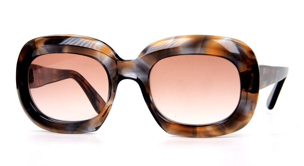 Original Vintagebrille der 50er Jahre aus dunkelhavanna Baumwollacetat,