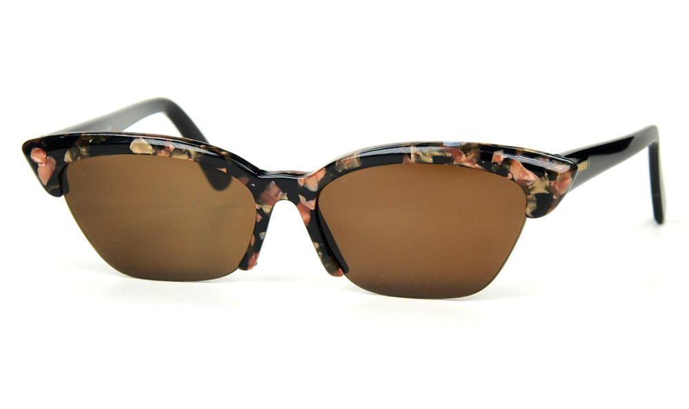 Cateye Sonnenbrille echt Vintage mitgraugrünen Kunststoffgläsern