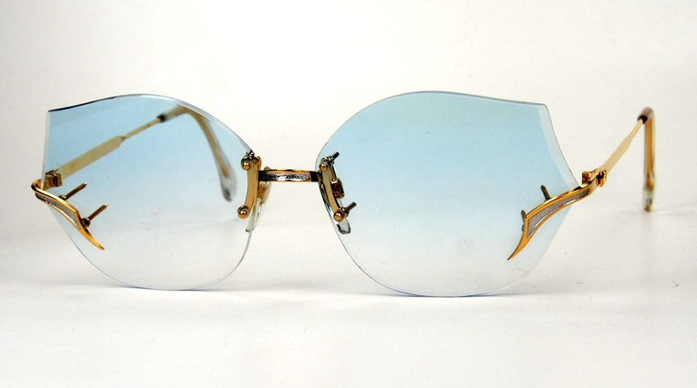 Polaris Vintagebrille der 80er Jahre randlos elegant
