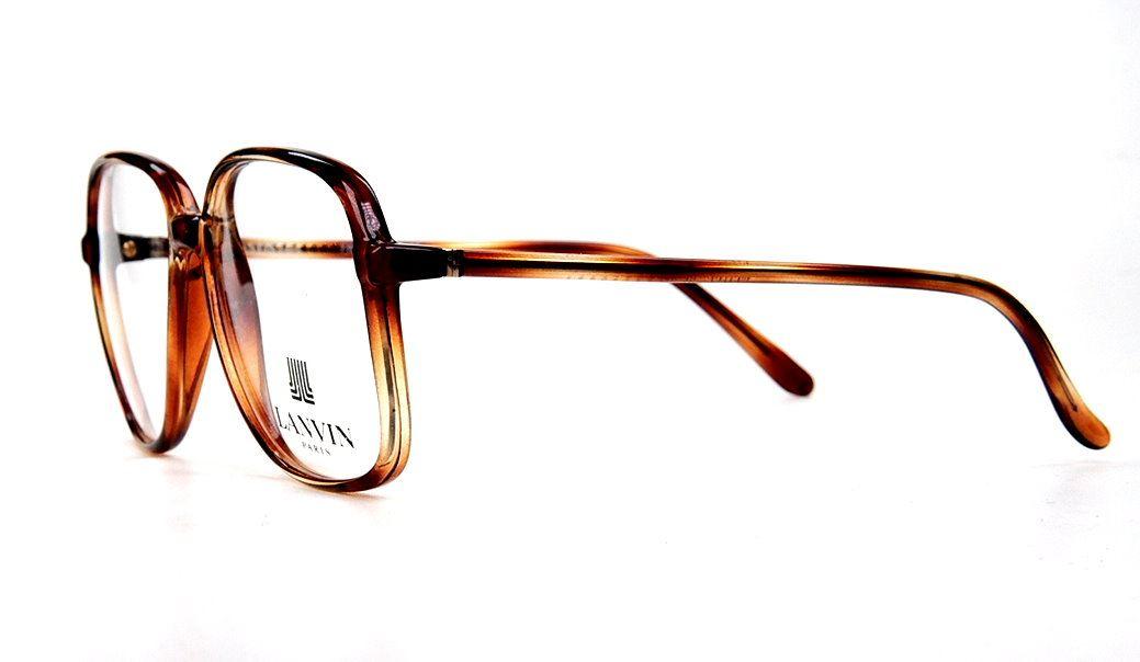 Vintagebrille von Lanvin der 80er Jahre aus leichtem Kunststoff, große Brille.