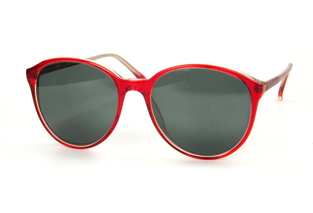 Rote Sonnenbrille mit grauen Kunststoffgläser 100% UV-Schutz