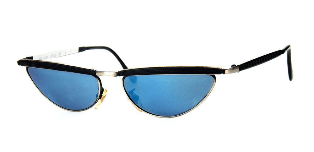 70er Jahre Schmetterlingsbrille Sonnenbrille  blauverspiegelt