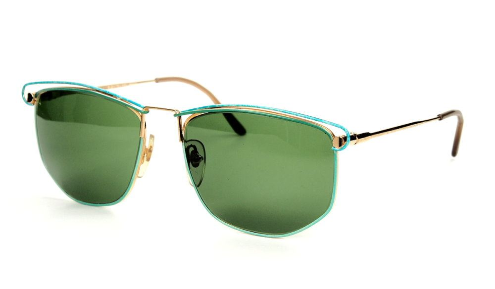 Vintage Sonnenbrille der 80er Jahre aus Metall mit Federscharnier