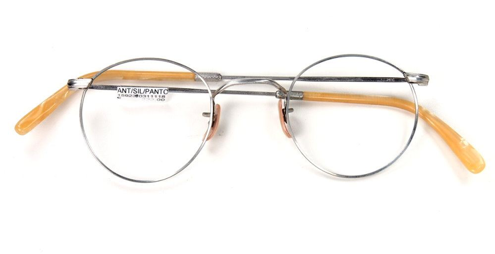 Pantobrille aus den 30er Jahren, noch fabrikneu,  silberfarben