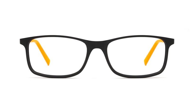 Sea2see eyewear Joe Farbe 02 schwarz/orange matt, recyceltes Meeresplastik