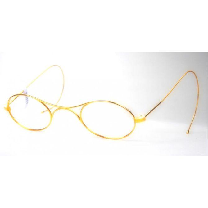 Schubert Brille Mit Brezelsteg Vergoldet, Um 1900 Aufsicht